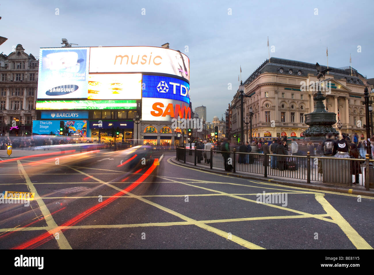 Picadilly Circus, London, England, Great Britain, United Kingdom - Stock Image