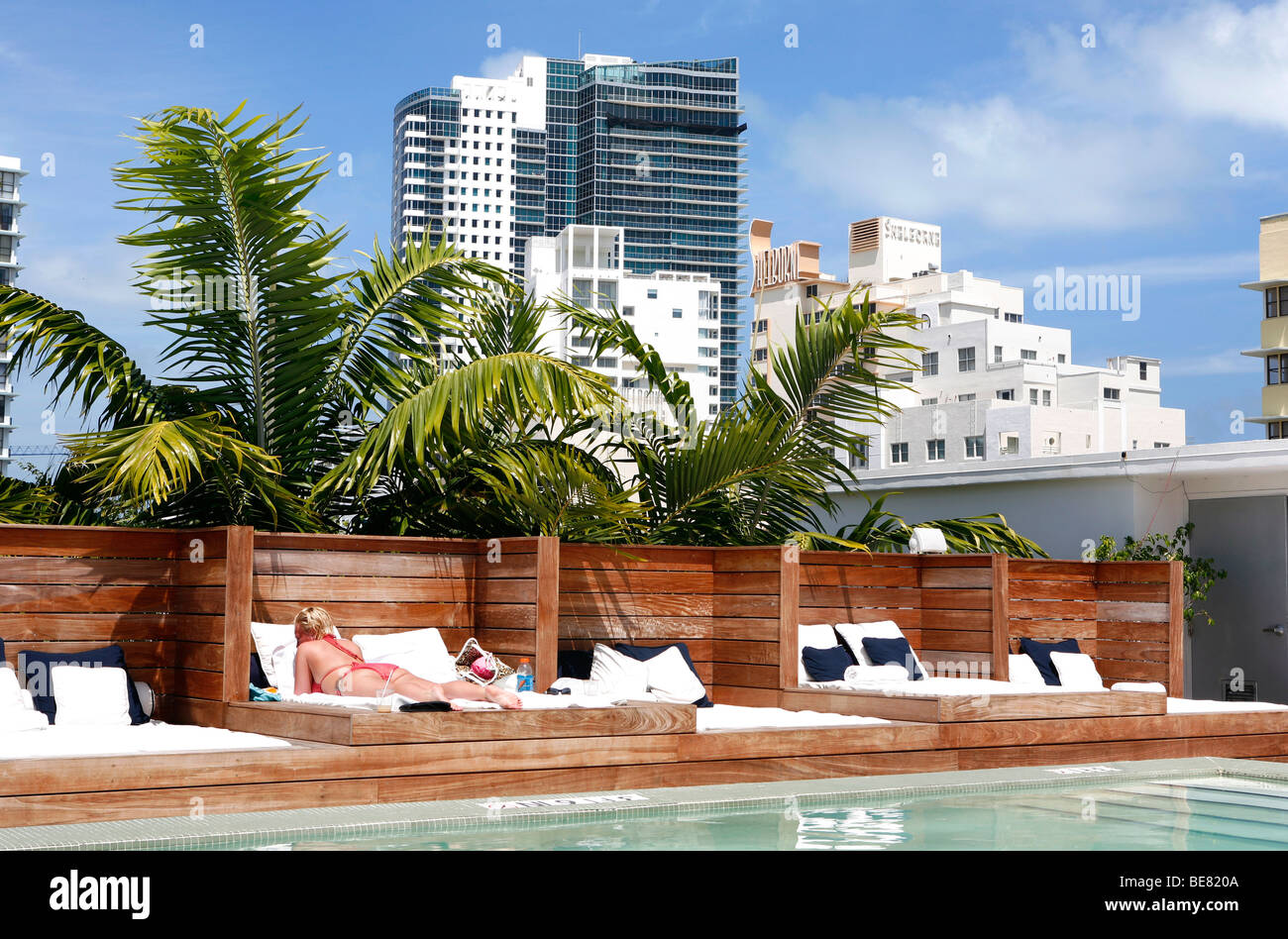 rooftop pool and sunloungers at catalina beach club hotel. Black Bedroom Furniture Sets. Home Design Ideas