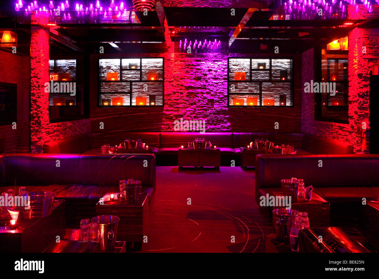 Interior View Of The Deserted Mokai Nightclub, South Beach, Miami Beach,  Florida,