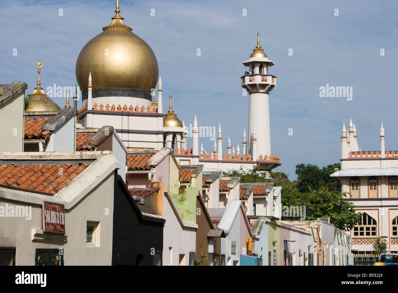 Sultan Mosque in Kampong Glam District, Singapore, Asia - Stock Image