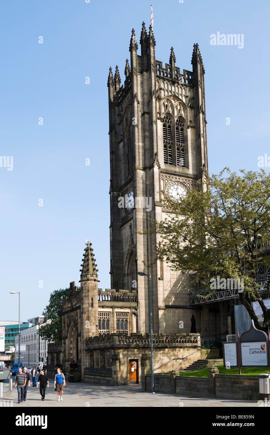Manchester Cathedral, England - Stock Image