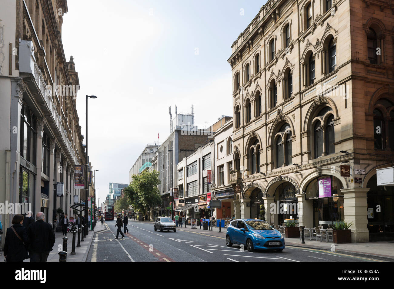 Deansgate in the city centre, Manchester, England - Stock Image