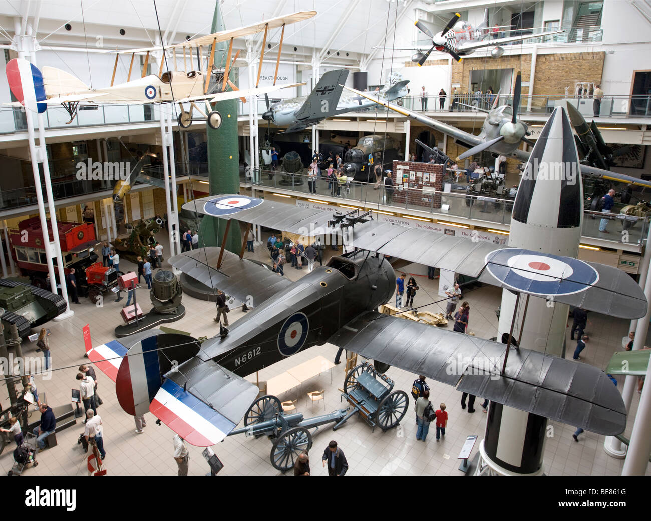 Main Hall - Imperial War Museum - London - Stock Image