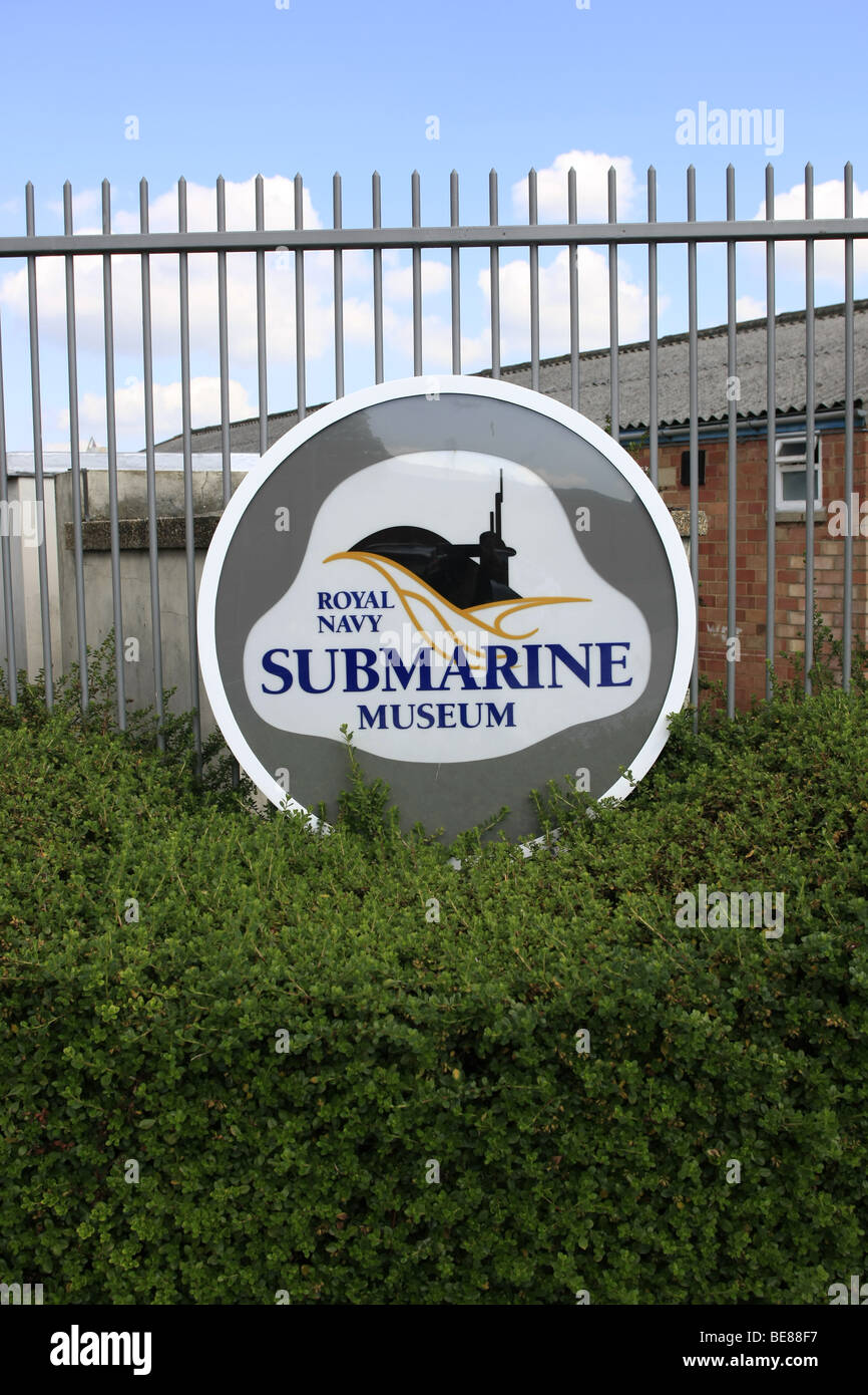 The Gate Logo at the Royal Navy Submarine Museum - Stock Image