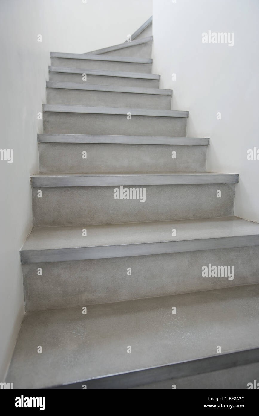 Empty staircase, low angle view - Stock Image