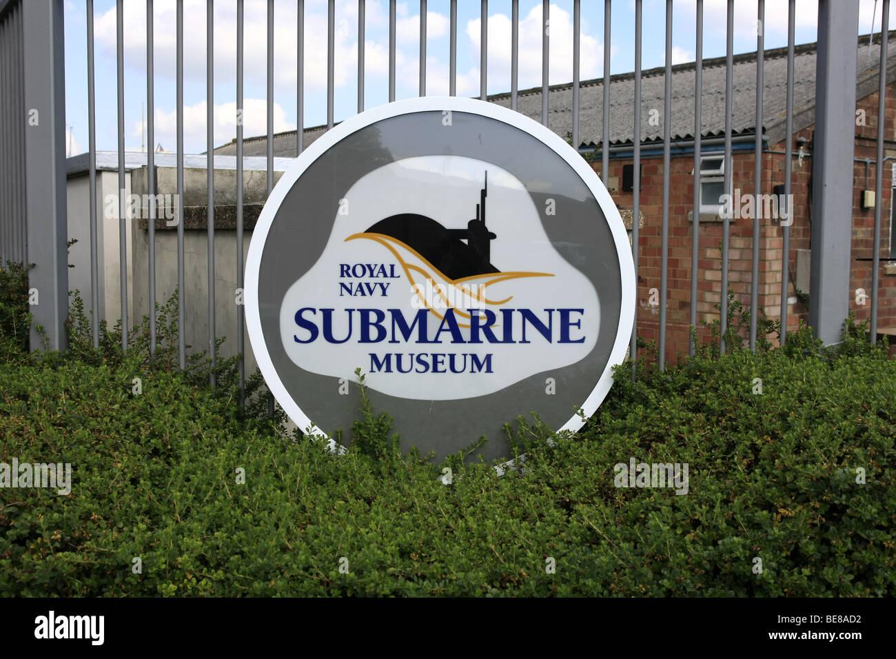 The Gate Logo at the Royal Navy Submarine Museum, Gosport Hampshire England - Stock Image