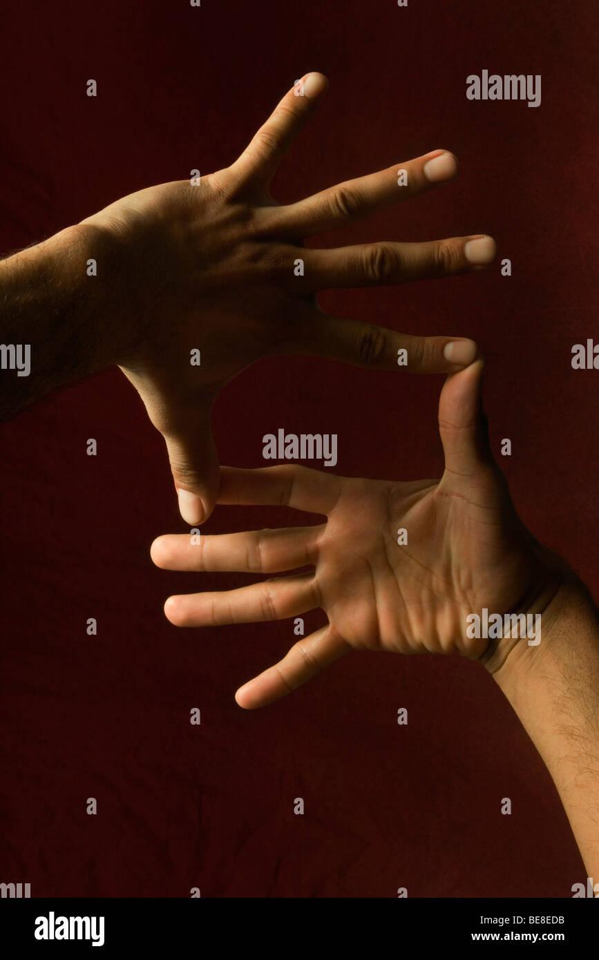 Hands making finger frame - Stock Image