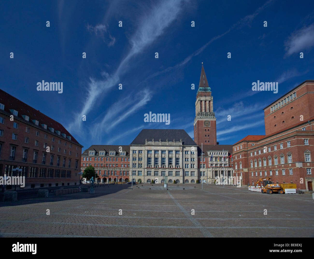 City hall, City hall Square, Kiel, Schleswig-Holstein, Germany, Europe - Stock Image