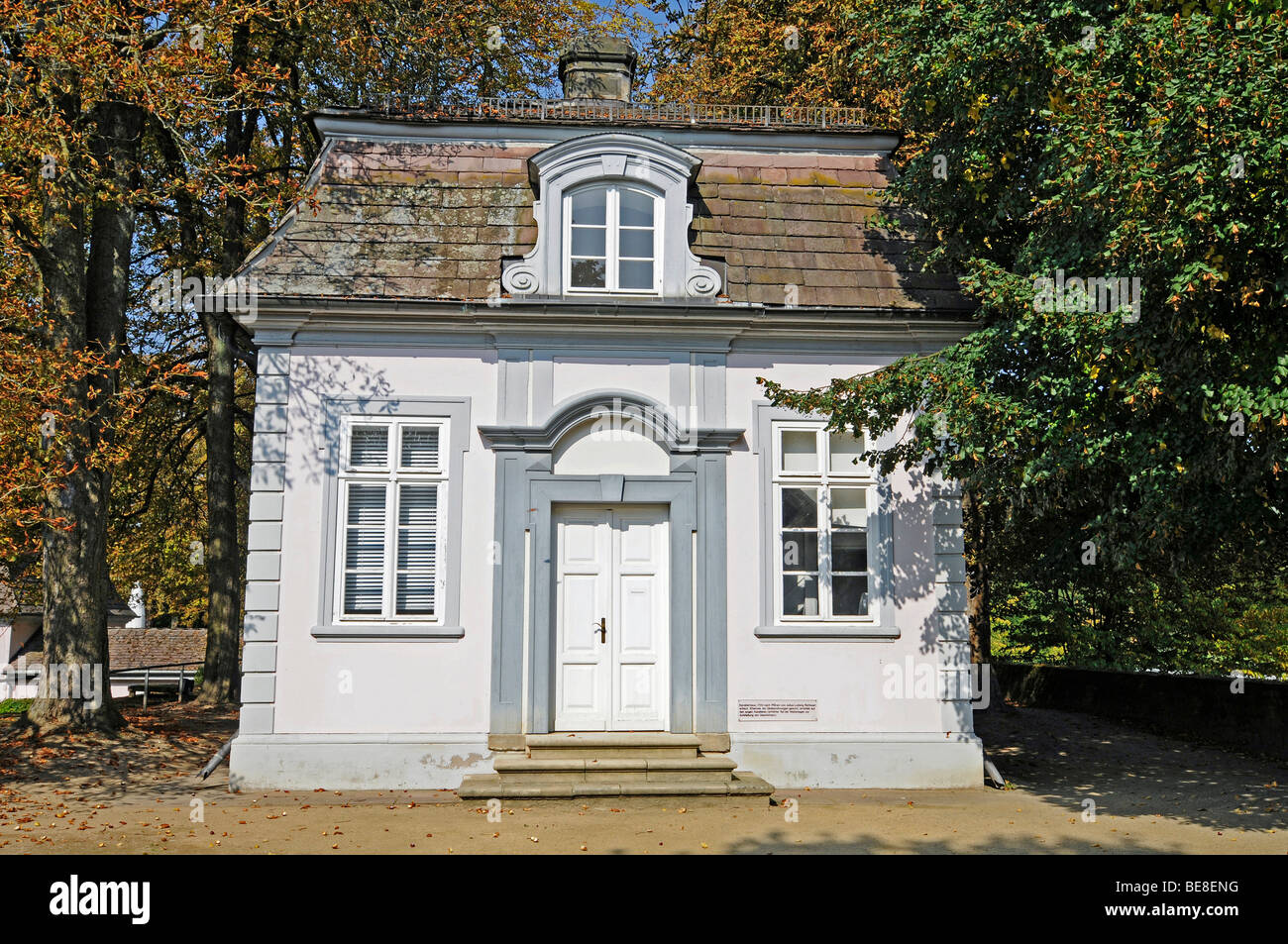Cavalier house, castle, fortress, classicism, museum, Bad Pyrmont, Lower Saxony, Germany, Europe Stock Photo