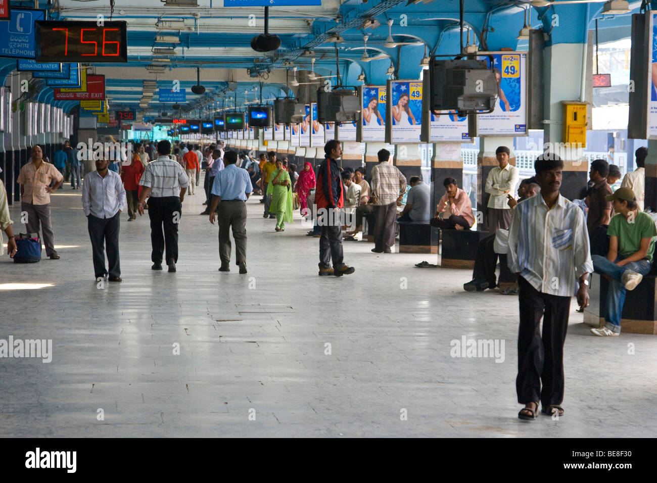 Railway station in Hyderabad India - Stock Image