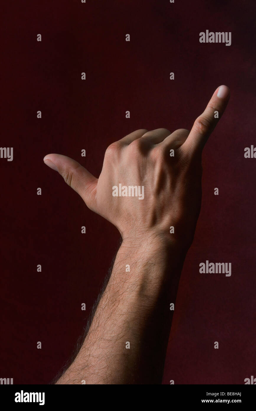 Hand making shaka sign - Stock Image
