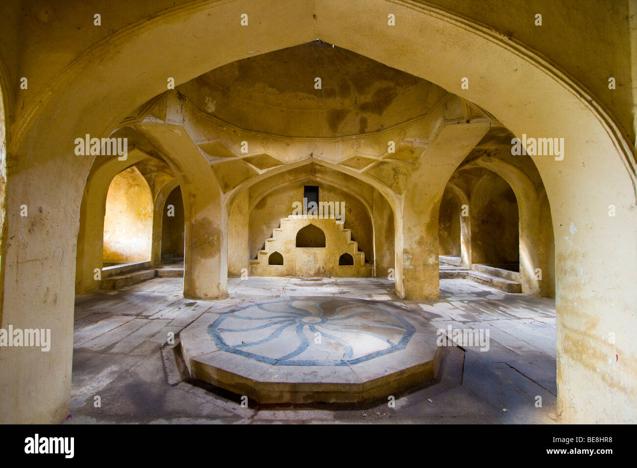 Hamam or Mortuary Chamber at Qutb Shahi Tomb in Golconda in Hyderabad India - Stock Image