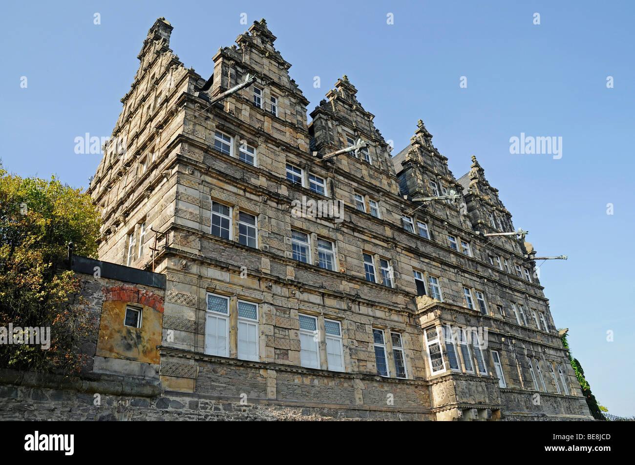 Haemelschenburg Castle, Weser Renaissance, Bad Pyrmont, Hameln, Emmerthal, Lower Saxony, Germany, Europe Stock Photo