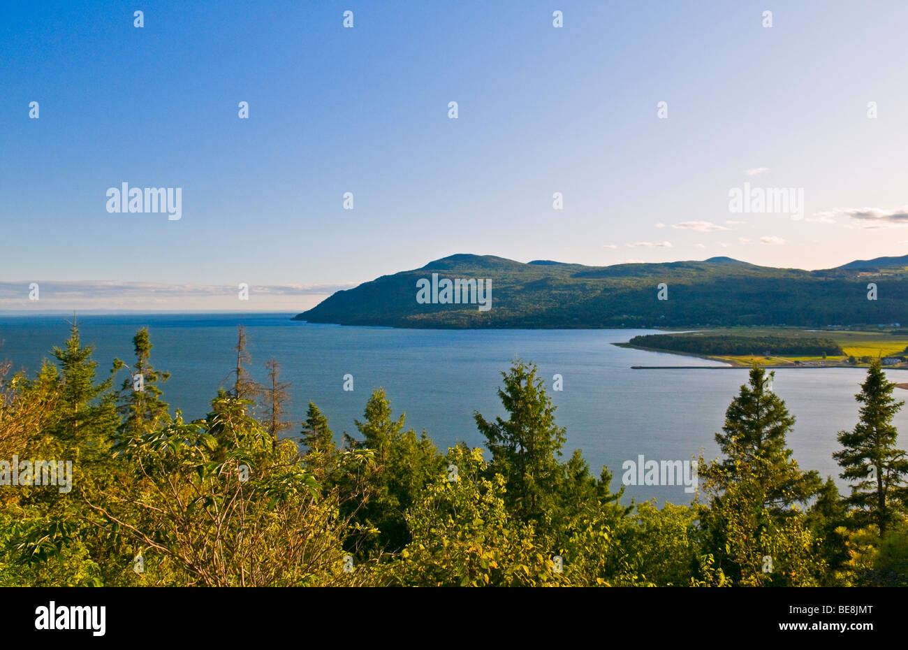 Baie Saint Paul & St Lawrence river Charlevoix Province of Quebec Stock Photo