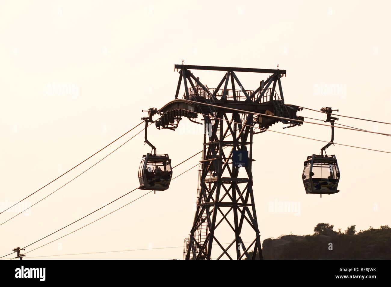 Ngong Ping Cable Car, Tung Chung, Lantau Island, Hong Kong - Stock Image