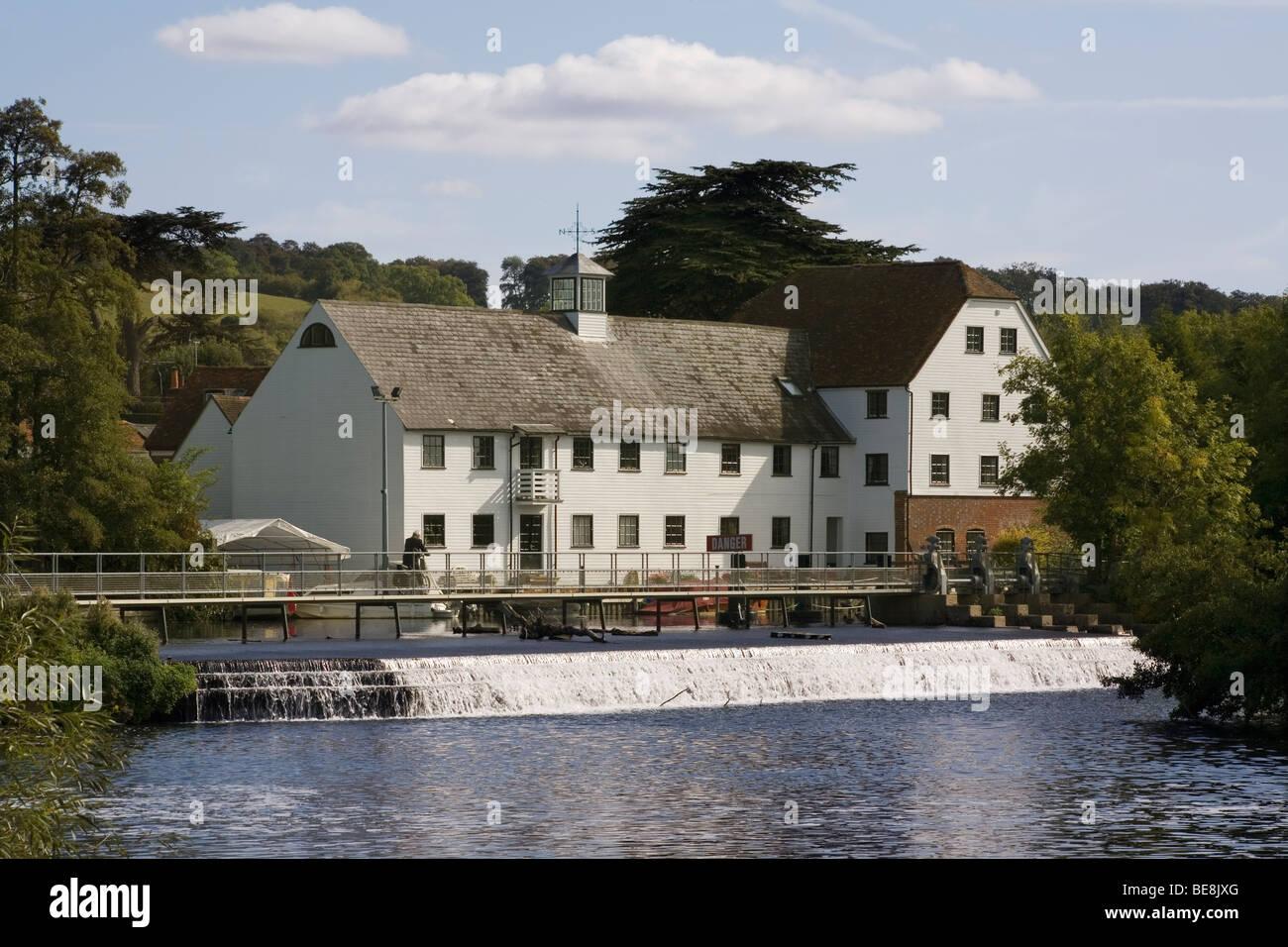 England Buckinghamshire Hambleden Mill & River Thames - Stock Image