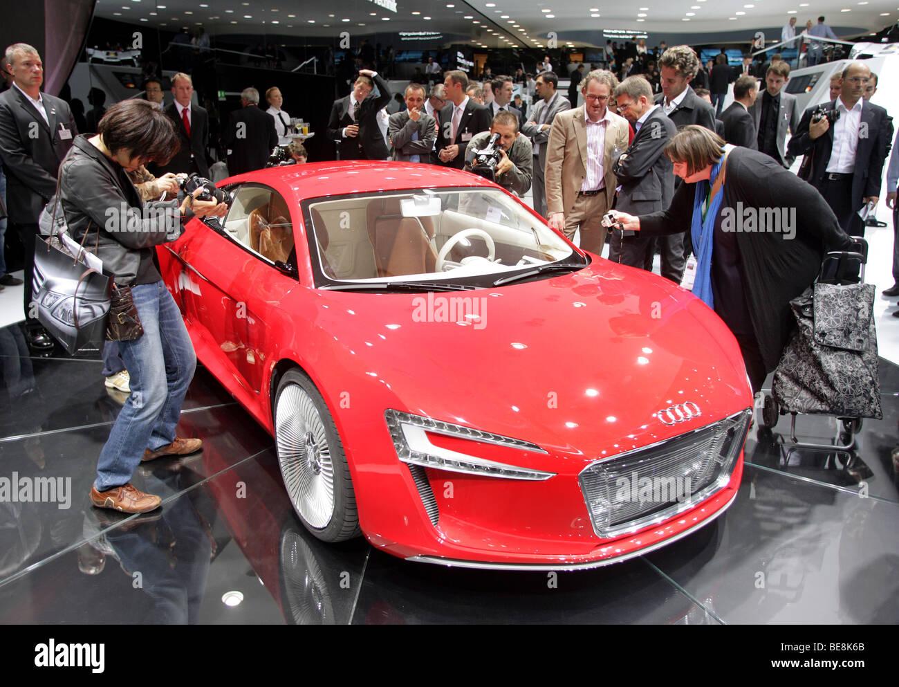 electric car 'Audi e-tron' at the 63. IAA Motor Show in Frankfurt/Germany, 15.9.2009 - Stock Image