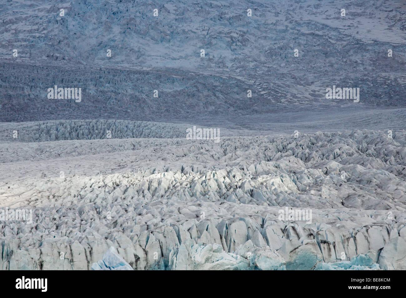 Gletsjer in zuid-oost ijsland; glacier in south-east Iceland - Stock Image