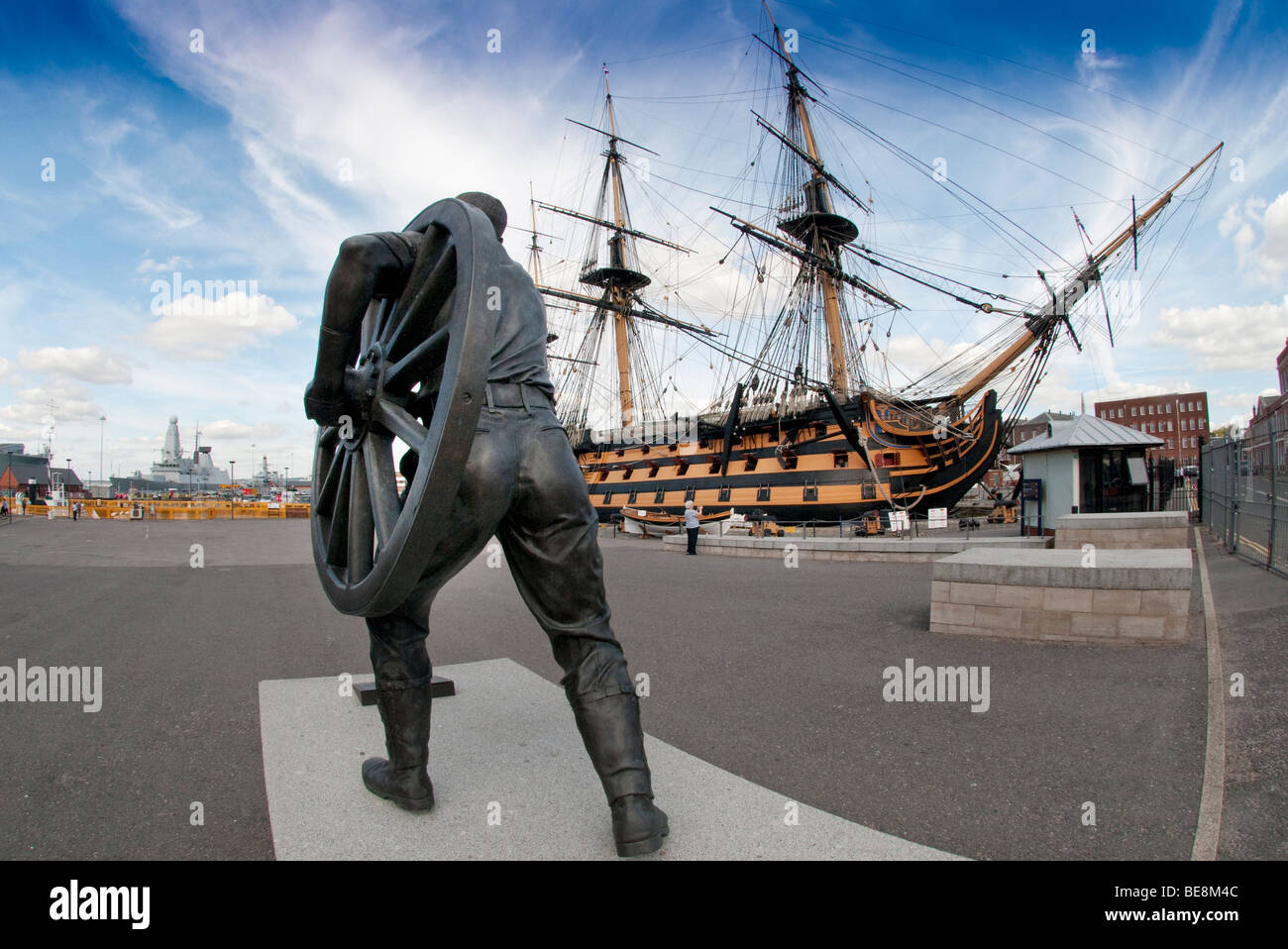 Royal tournament statue Portsmouth - Stock Image
