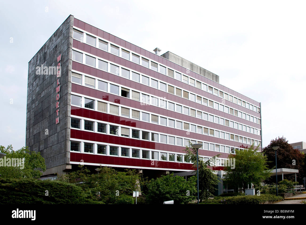 Headquarters of the Woolworth Deutschland GmbH company in Frankfurt am Main, Hesse, Germany, Europe - Stock Image