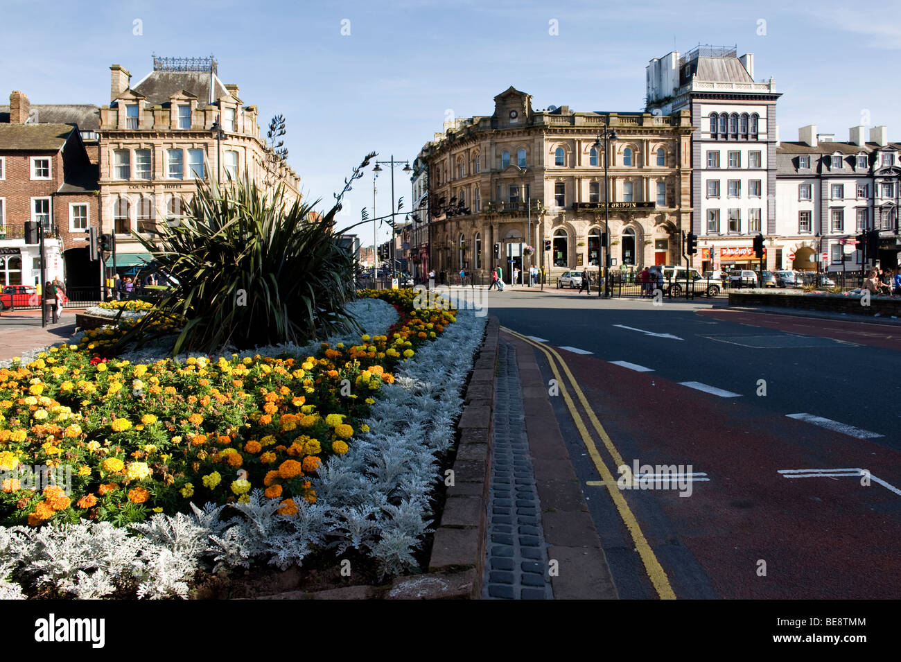 Carlisle City Center, the most northerly English city in the UK - Stock Image
