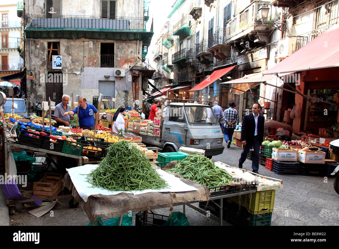 The Capo market in Palermo Sicily Italy - Stock Image