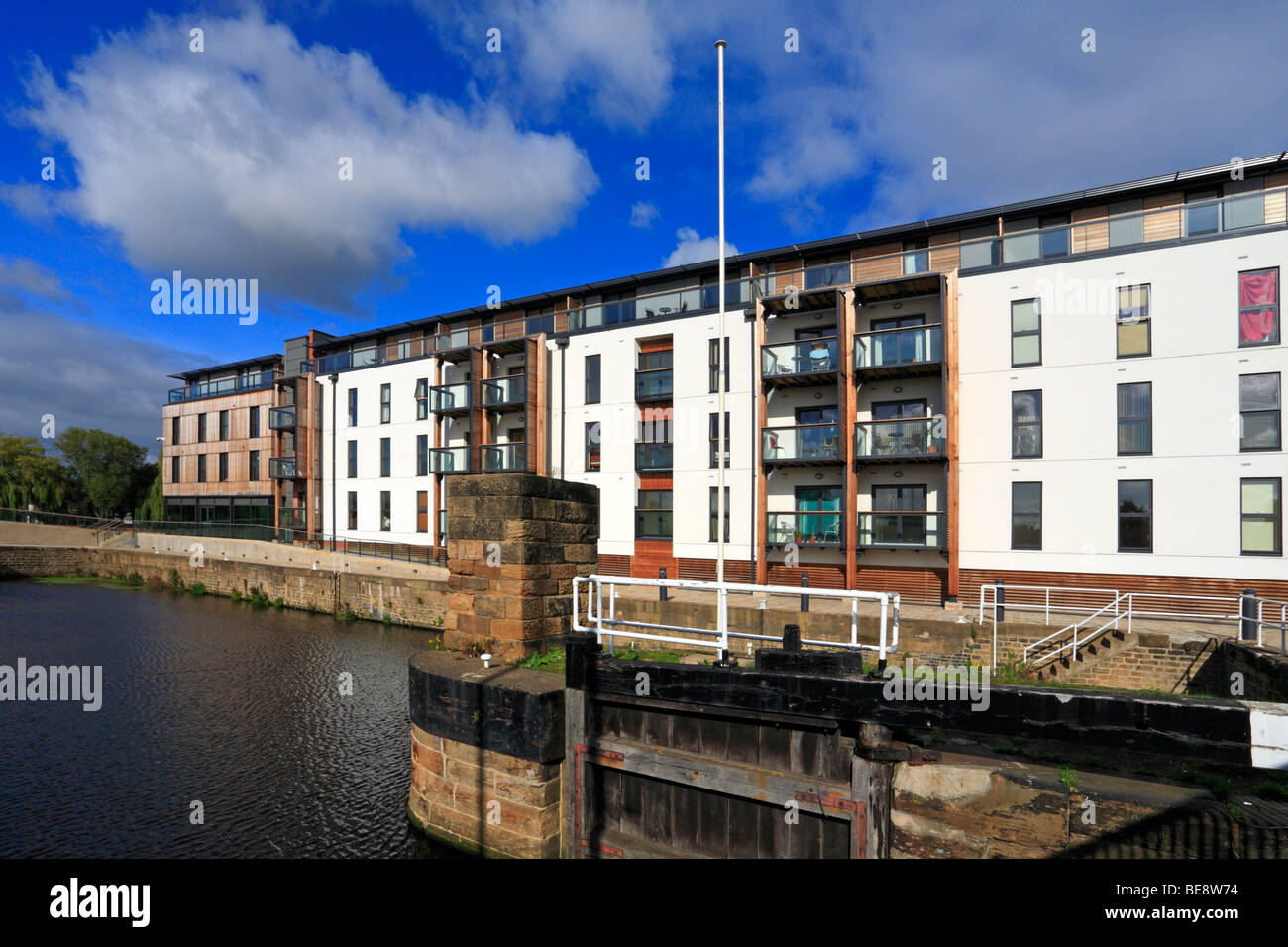Wakefield Waterfront Development, Calder and Hebble Navigation, West Yorkshire, England, UK. Stock Photo