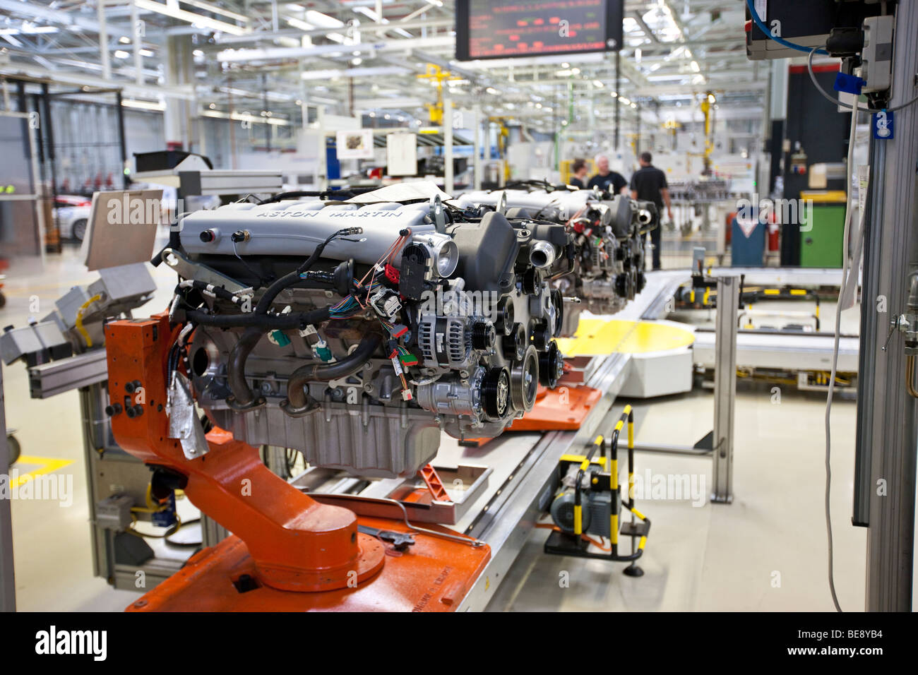 Production of Aston Martin V12 motors, Aston Martin engine plant in Cologne, Rhineland-Palatinate, Germany, Europe - Stock Image