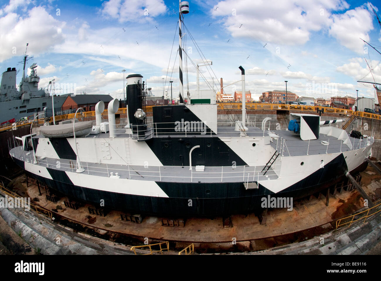 HMS Monitor Historic Dockyard - Stock Image