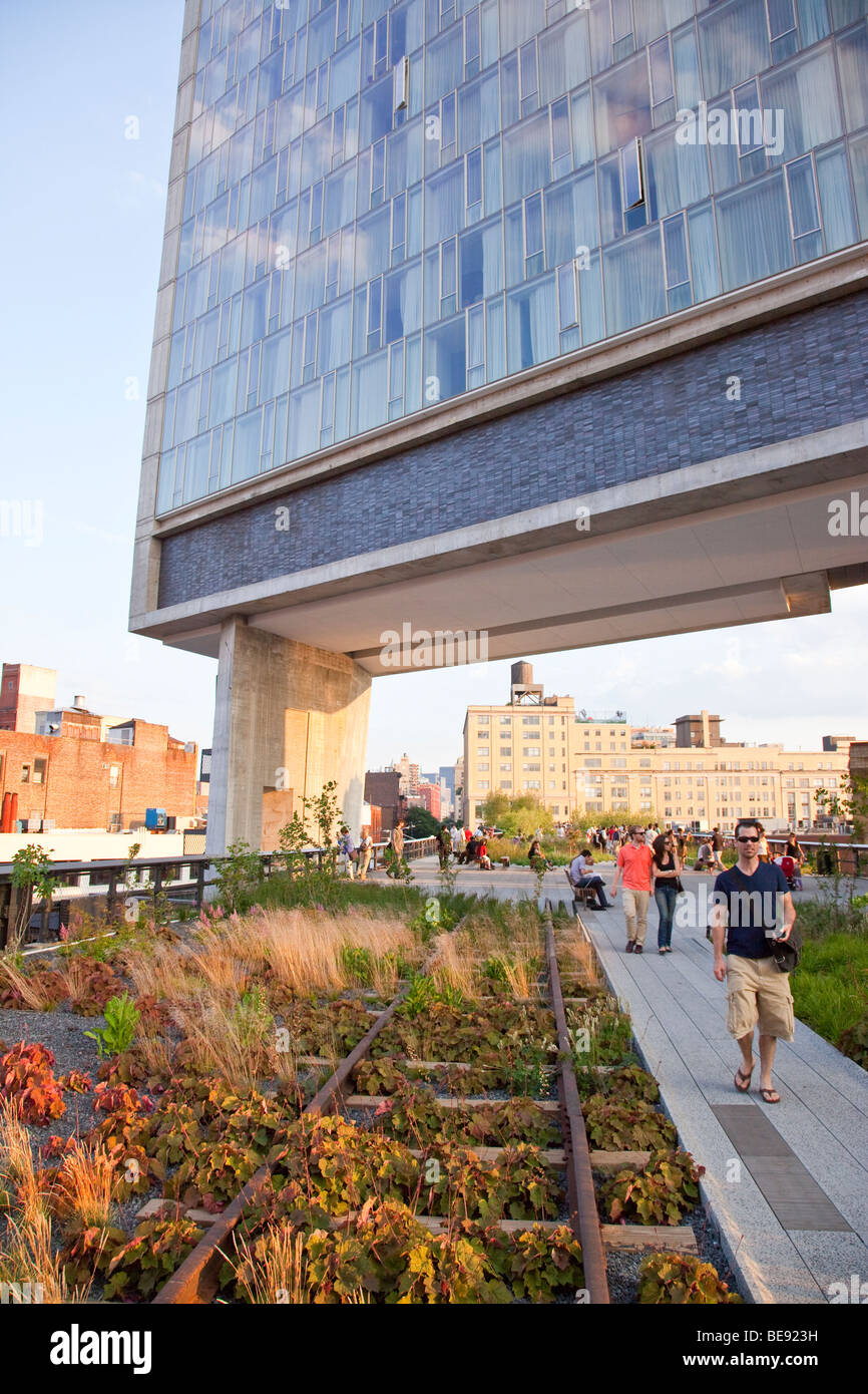 The Standard Hotel And The High Line In Manhattan In New