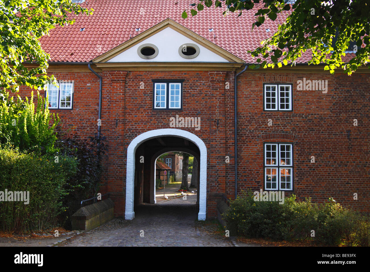 Gatehouse of the Kloster Preetz convent, entrance to the convent and minster, Preetz, Ploen, Holstein Switzerland, - Stock Image