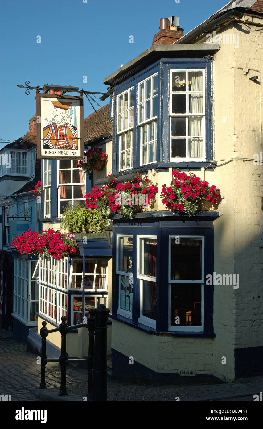 Kings Head Inn, Lymington, Hampshire, England, UK - Stock Image