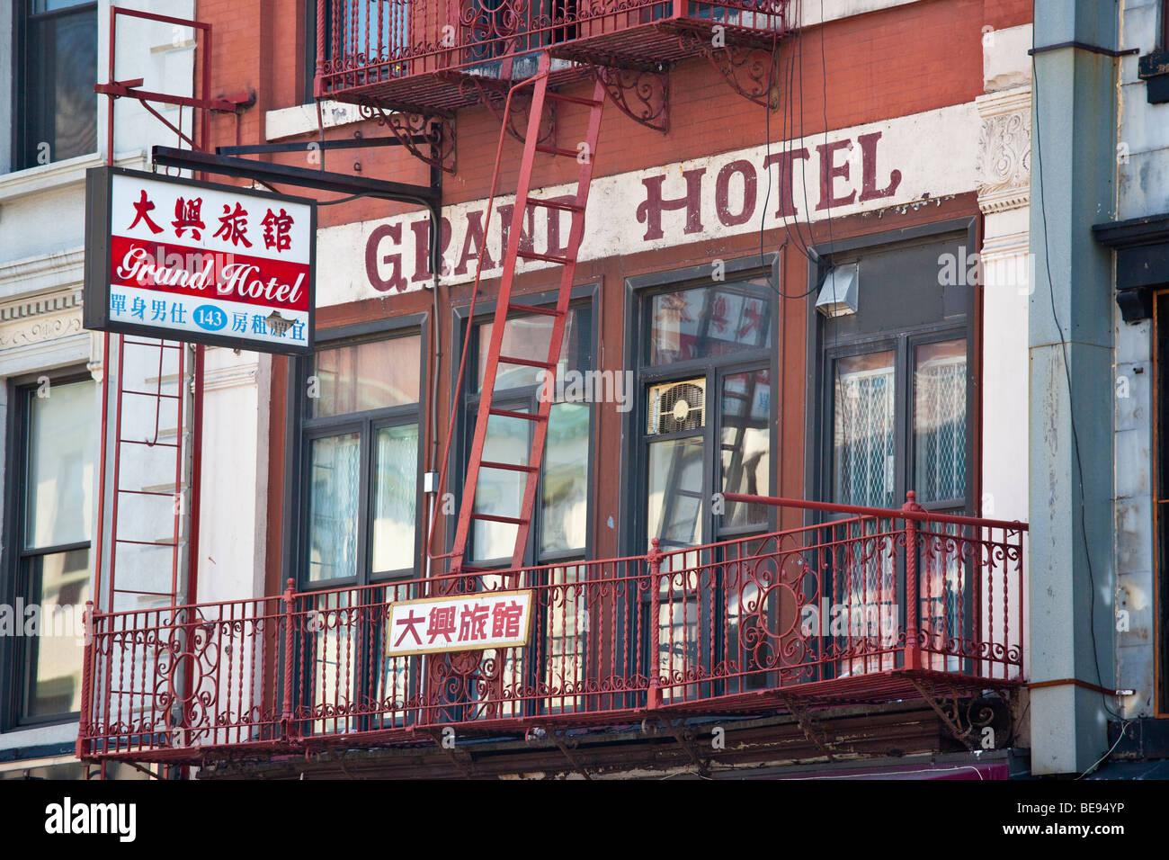 Grand Hotel in Chinatown in Manhattan New York City - Stock Image