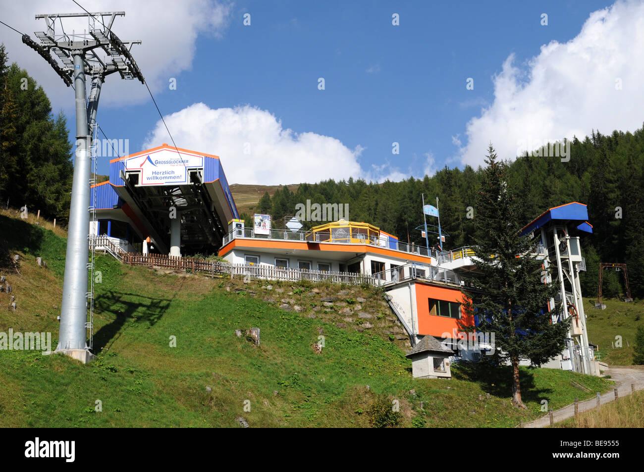 Ski lift near Heiligenblut at the Grossglockner Stock Photo