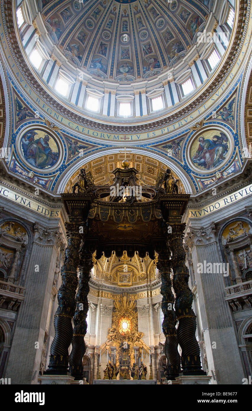 ITALY Lazio Rome Vatican City Dome Of St Peter's By