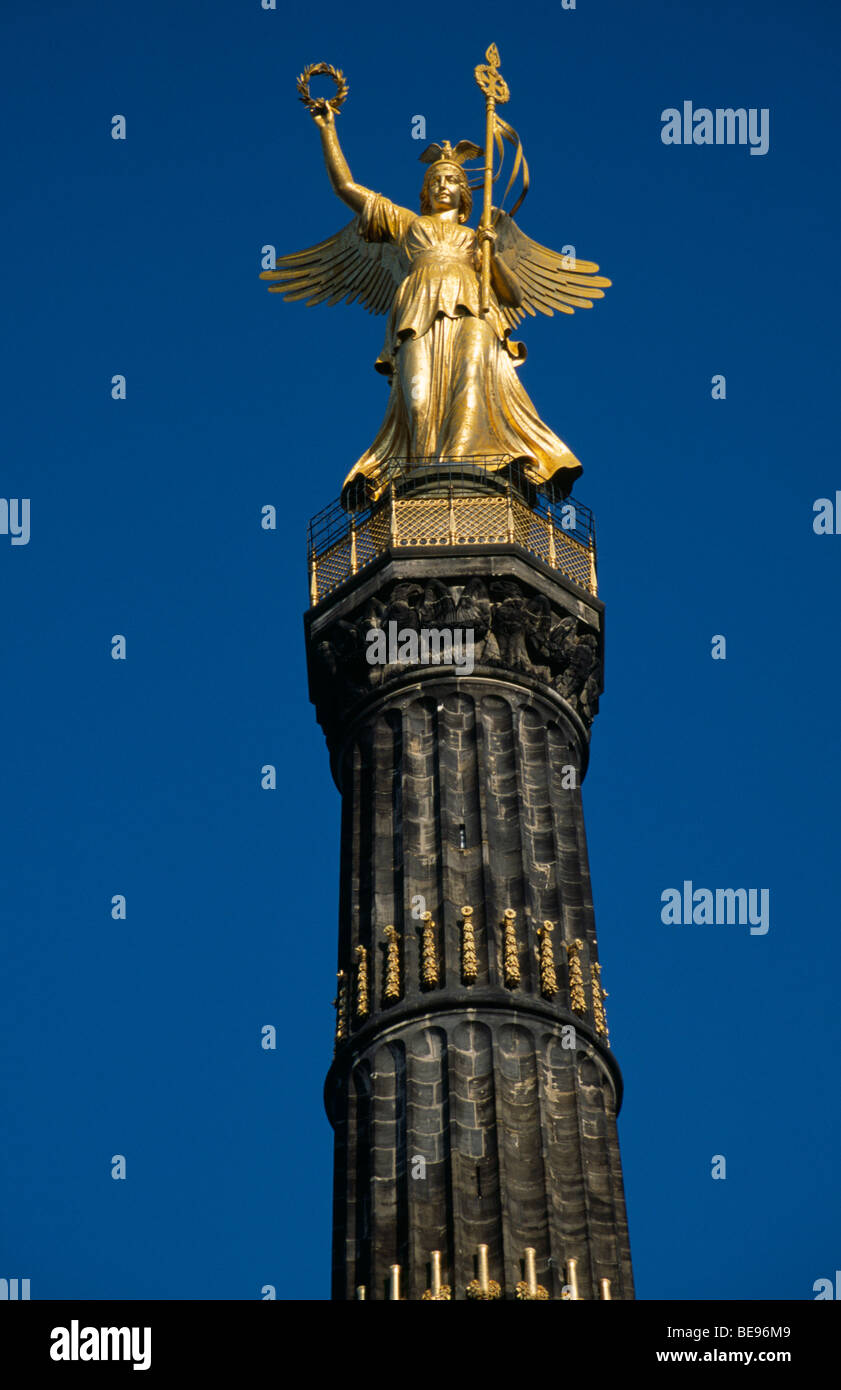 GERMANY Berlin Victory Column designed by Heinrich Strack to commemorate the Prussian victory over Denmark Stock Photo