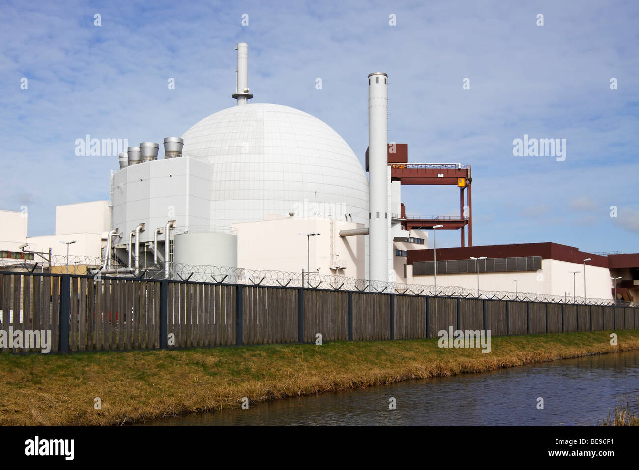 Nuclear power station / Brokdorf - Stock Image