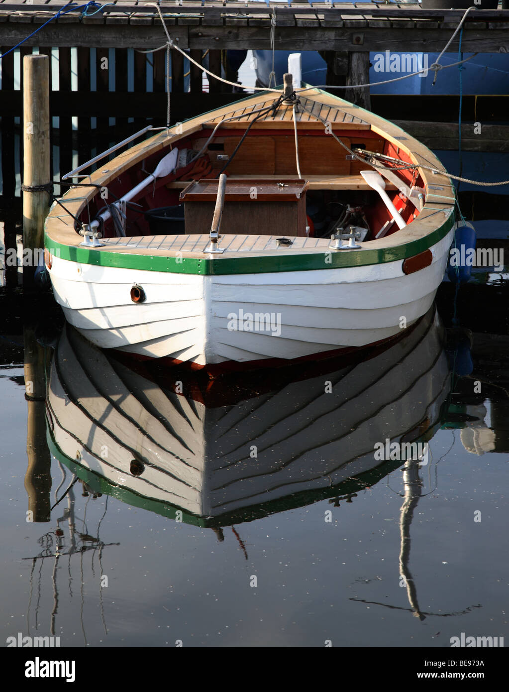 Fishing boat for coastal Scandinavian waters - local fishing port in the North Zealand, Denmark. - Stock Image
