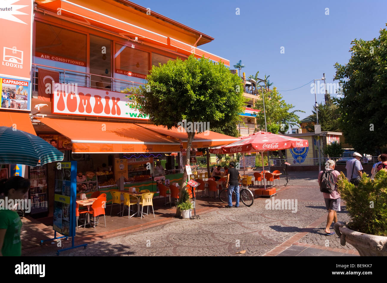 Shops in the centre of Alanya in southern Mediterranean Turkey - Stock Image
