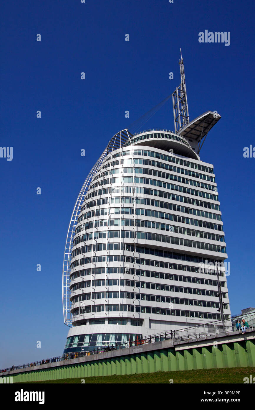 Atlantic Hotel Sail City / Bremerhaven - Stock Image