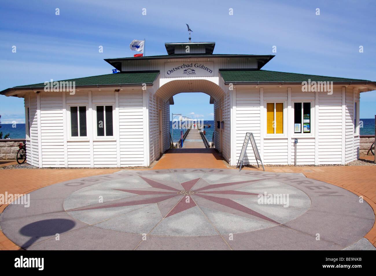 Seaside resort Gohren - Stock Image