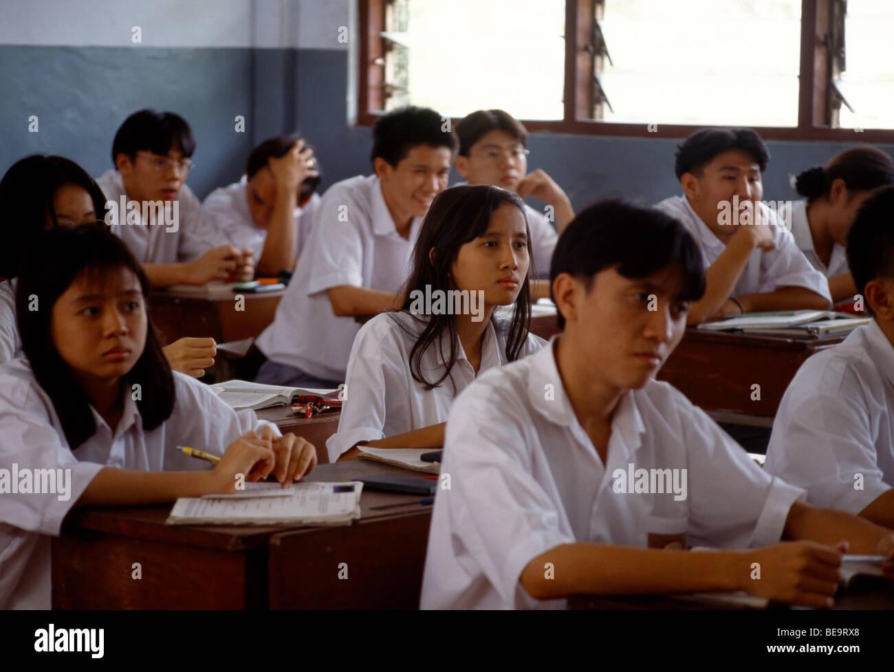 Jakarta Indonesia Kristen Kanaan School Children In Classroom - Stock Image