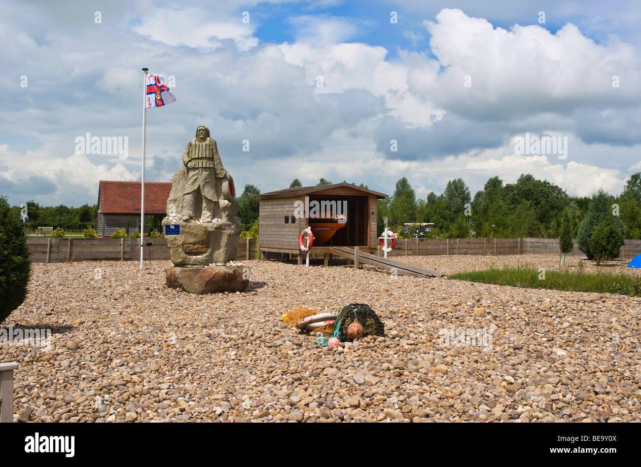 National Memorial Arboretum. Royal National Lifeboat Institution Memorial RNLI - Stock Image