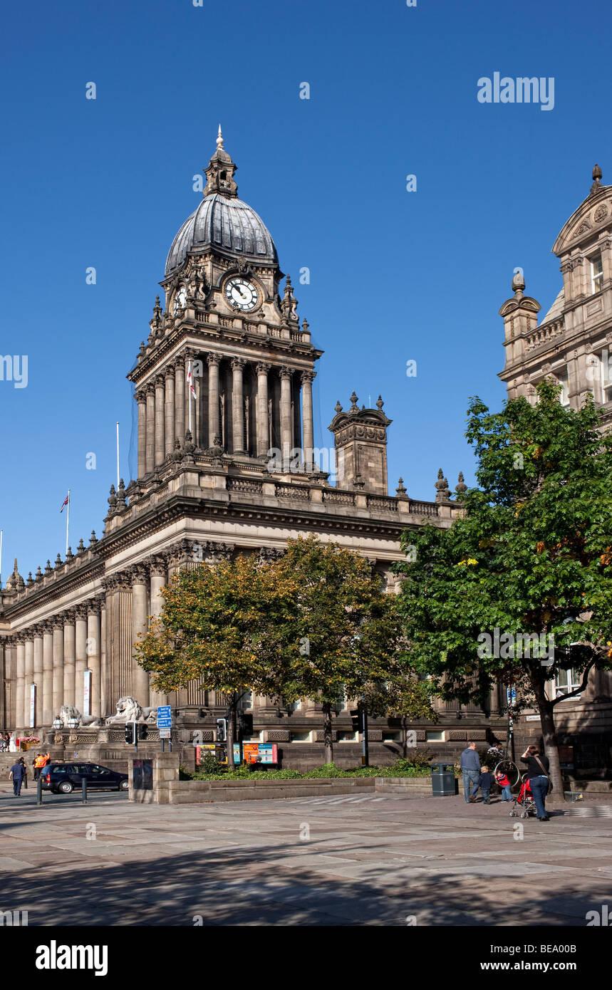 Leeds Town Hall, Leeds, West Yorkshire UK - Stock Image