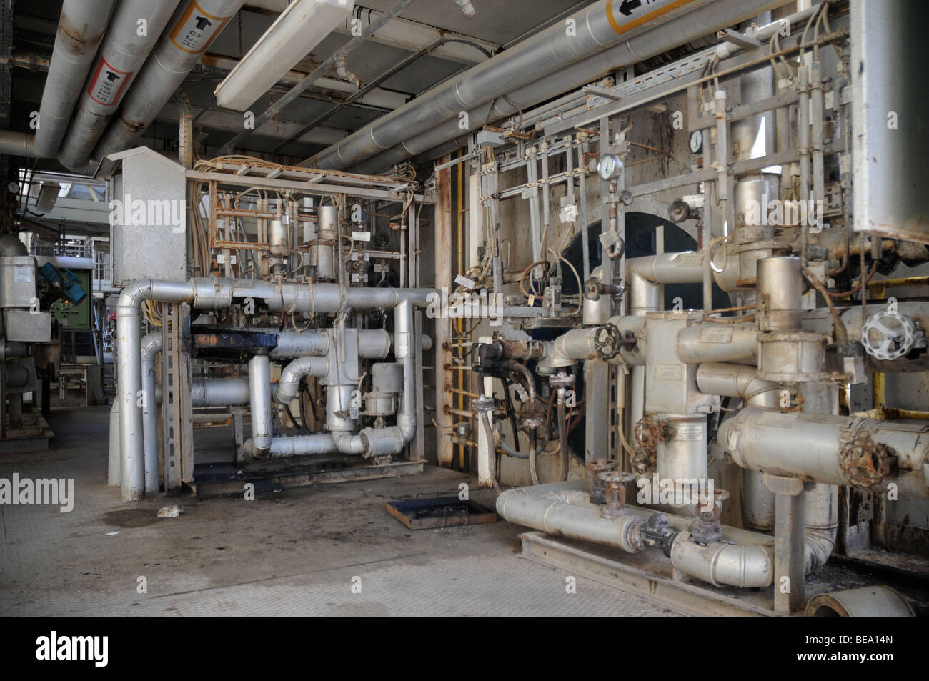 A section of a power plant station in Malta - Stock Image