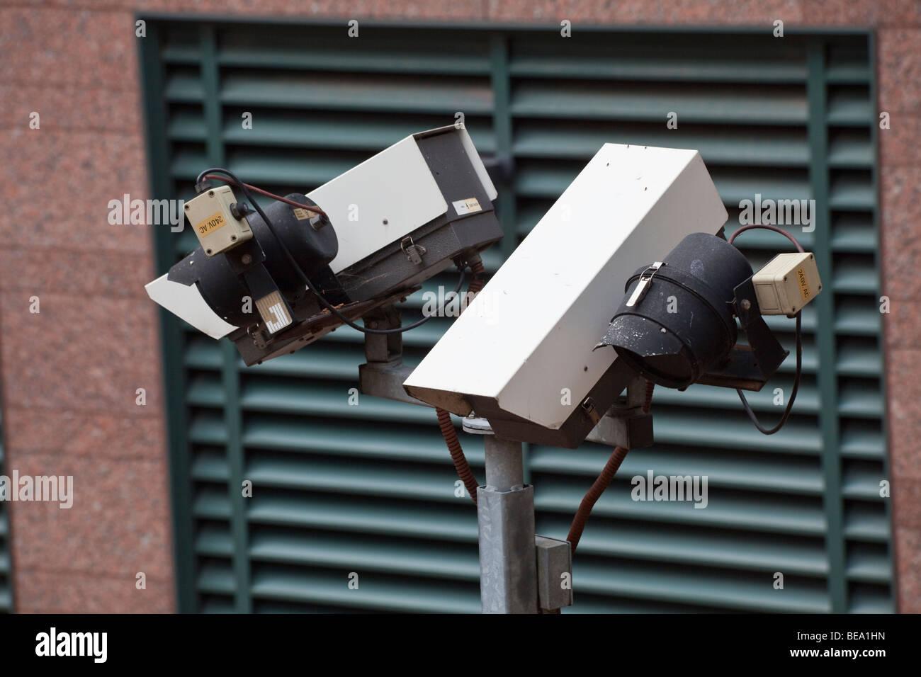 closed circuit tv camera, London Underground, London, England UK - Stock Image