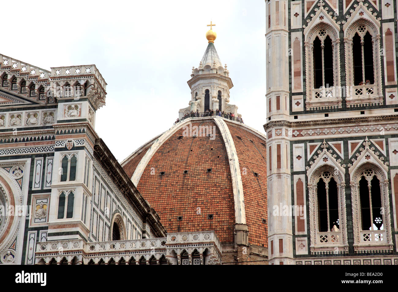 The Duomo and Campanile are the most famous landmarks in Florence Italy - Stock Image