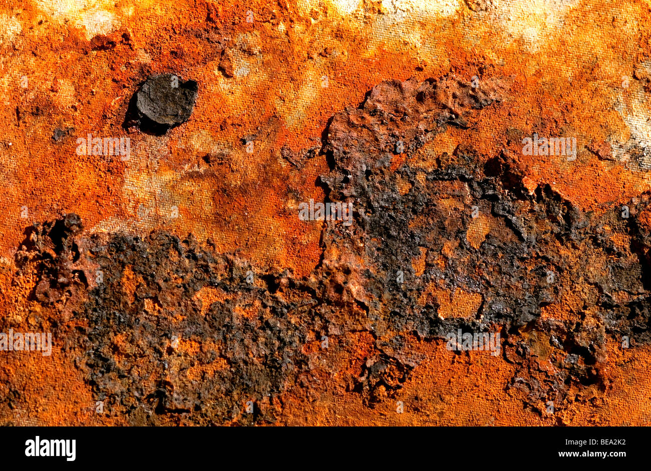 Close up of rusted, dilapidated metal - Stock Image