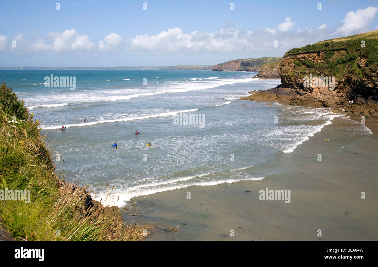 Little Haven Pembrokeshire coast national park Wales - Stock Image
