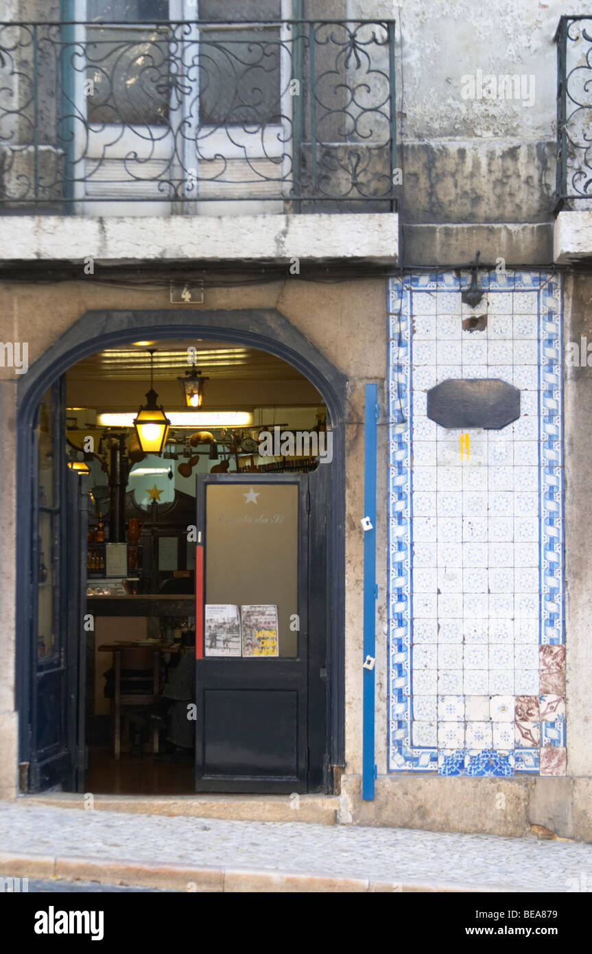 old bar alfama district lisbon portugal - Stock Image